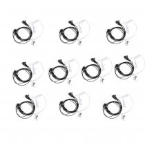 10 Pcs Throat Mic Air Tube Earpiece Headset for Baofeng UV5R BF-888s