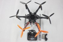 F05114-AC F550 Hexa-Rotor Air Frame FlameWheel Kit RTF + Landing Gear Radiolink 6CH TX&RX Battery Adapter ESC Motor Weld