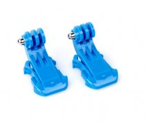 10 Pcs J-Hook Buckle Vertical Surface Mount Adapter Blue for GoPro HD Hero 2 3 Chest Strap Belt