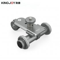Kingjoy PPL-06 Motorized Electric 3-Wheel Video Pulley Car Track Dolly Rolling Slider Skater for Cannon Nikon Camera