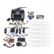 RC HexaCopter ARF Electronic: RadioLink AT10 TX&RX 920KV Brushless Motor 30A ESC Propeller GPS APM2.8 Camera Gimbal