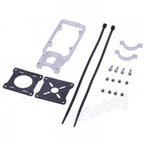 20mm CNC Aluminum Alloy Motor Mounting Holder Bracket Silver for RC Multicopter Carbon Tube