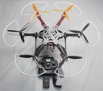 RTF F550 550 mm Hexa-Rotor Air Frame Assembled Kit with Radiolink 6 CH Transmitter Prop Protector Battery Charger
