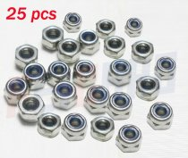 Wholesale 25 pcs M2 Nylon Insert Lock Hex Nuts