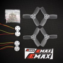 EMAX RS1104 5250KV Brushless Motor + 2345 CW CCW Propellers Violence For 130 FPV