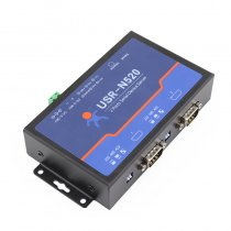 USRIOT USR-N520 Serial to Ethernet Server TCP IP Converter Double Serial Device RS232 RS485 RS422 Multi-host Polling