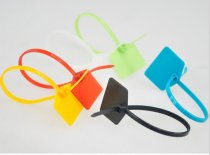 10Pcs Colorful 120MM Plastic Self-Locking Identification Signage label Ties Cable Belting Ribbon