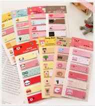 Korea stationery Small Fresh N times Stickers Note Paper Memo Pad 6 Pattern