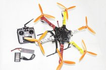 F05114-AD F550 Hexa-Rotor Air Frame RTF Assembled Full Kit +Landing Gear Radiolink AT10 TX&RX Battery Adapter ESC Motor