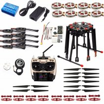 DIY Foldable GPS RC Racer Tarot X8 TL8X000 8-Axis Frame 350KV 40A PX4 32 Bits Flight Controller Radiolink AT9S TX&RX