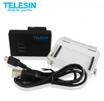 TELESIN External 2280mA Backup Battery USB Charging with Waterproof Back Cover Upgraded for GoPro Hero 3/3+ Plus Camera