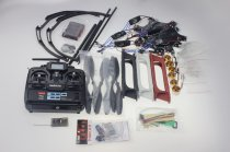 F550 Drone FlameWheel Kit With QQ HY ESC Motor Carbon Fiber Propellers + RadioLink 6CH TX RX+ Skid PTZ