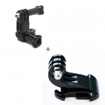 Three-Way Adjustable Pivot Arm + Buckle Vertical Surface Mount Adapter for GoPro HD Hero Camera GITUP GIT1 GIT2