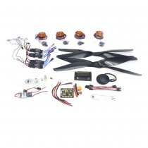 RC HexaCopter 4-axis Aircraft Electronic:700KV Brushless Motor 30A ESC BEC 1555 Propeller GPS APM2.8 Flight Control