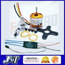 A2212 1000KV Brushless Outrunner Motor 13T + 30A Speed Controller ESC ,RC Aircraft KK 4 Axis Copter UFO