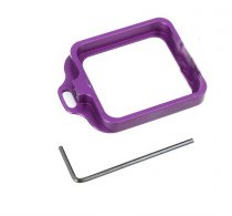 CNC Aluminum Lanyard Ring Lens Mount Set Purple for Gopro Hero3+ Hero 3 Plus GITUP GIT1 GIT2