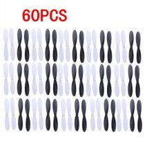 60pcs Propellers H107-A02 Props for Hubsan X4 Quadcopter H107L H107C H107D JXD385 X4 Quadcopter Black/White