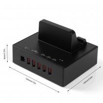 ORICO DBP-5P-BK 5 ports USB Charging Docking Station for Tablet Smart Phone