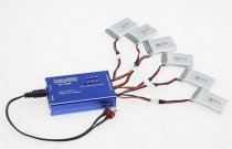 6 Port Balancing Charge BC-1S06 0.5A Charger for Li-po Battery without Power Adapter