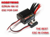 Hobbywing EZRUN 18A V2 2-3S Lipo Speed Controller Brushless ESC BEC Output 6V/1.5A for 1/16 1/18 RC Car
