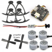 Mini 90-130 Indoor Racer 1104 4300KV 2s Brushless Motors RC Kit with OSD Blheli_S Super_S F3 Flight Control + Transmission 25mw