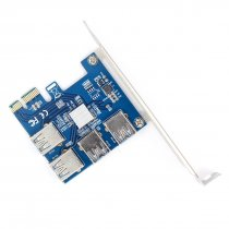 WBTUO Riser Card PCI-E USB 3.0 PCIe Port Multiplier Card PCI express PCIe 1 to 4 PCI-E to PCI-E for BTC Miner