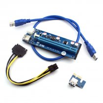 WBTUO PCI-E 1X to 16X extension cable 6Pin PCIE USB3.0 mining dedicated adapter card extension cable