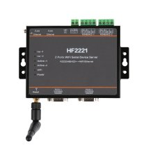 HF2221 2 Ports Wifi Serial Device Server RS232/RS422/RS485 to Ethernet / Wi-Fi Serial Server