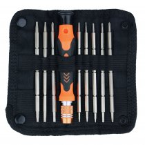 Jakemy JM-8124 9 in 1 Screwdriver Set with Double Head Design Bit Precision Screwdriver Bit With Handle Dual-head Bit Portable