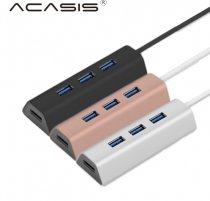 Acasis HS0063 Aluminum 4 Port 5Gbps USB 3.0 Splitter Super Speed with Mini USB Power Interface PC Laptop Spare Parts