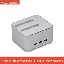 Acasis Aluminum Alloy DS Flexible Double Hard Disk Base Series 3.5 Inch SATA Multi-functional Universal Plus USB 3 Extension