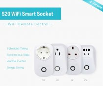 SONOFF S20 EU UK US AU Plug Wifi Power Socket Switch Wireless APP Remote Socket Outlet Timing Switch for Smart Home Work with Alexa