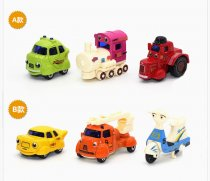 3Pcs/Set 1:64 Mini Cartoon Model Diecast Metal Alloy Cute Car Toys Children Racing Cars Kids Toy for girl Boy Gifts