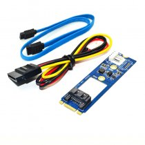M.2 NGFF to 7 Pin SATA III 3 7Pin SATA3.0 Cable SSD Adapter Converter Board Card NGFF1ST-N02 for 2242 2260 2280 SSD