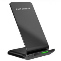 Q1 Fast Wireless Charger Dual Coil Charging Pad Stand For iPhone Samsung