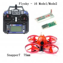 FEICHAO Snapper7 Brushless 4-Axis Aircraft Micro 75mm FPV Racer Racing Drone RTF 700TVL Camera with FS-i6 RC Transmitter Controller