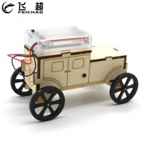 FEICHAO DIY Wooden Toys Car w/ Human Sensing Infrared Sensor Physical Material Kits Assembled Educational Model Vehicle Kid Gift