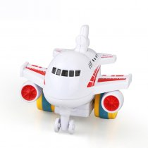 JMT 1 Piece Children Toy Colorful Mini Inertia Model Airplanes Cartoon Gift Friction Toy for boy 1-3 years