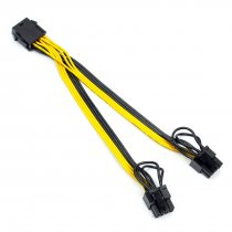 XT-XINTE CPU 8pin to Graphics Card Double 8pin Power Cable CPU 8P female to 6+2pin Adapter Cord Line
