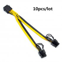 XT-XINTE 10pcs CPU 8pin to Graphics Card Double 8pin Power Cable CPU 8P female to 6+2pin Adapter Cord Line