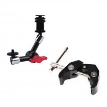 BGNING Adjustable Friction Articulating Magic Arm Super Clamp With 7 Inch Articulating Magic Arm for DSLR Camera
