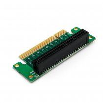 XT-XINTE PCI- Express 8x Riser Card 90-degree Left-angle Adapter Card 1U Height Computer Server PCIe socket Adapter