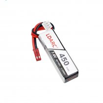 LDARC 7.4V 450mAh 80C Lipo Battery for FPV Racing Drone Quadcopter RC Helicopter Aircraft