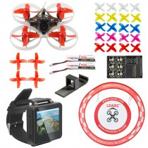 PRO 75mm V2 Crazybee F4 OSD 2S Whoop FPV Watch / Goggles RC Racing Drone with DSM2/DSMX RX 700TVL Camera 25mW VTX with Parking Apron & Air Gate