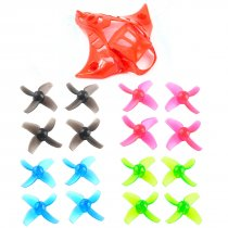 Happymodel Mobula7 Mobula 7 Spare Parts Replacement Propeller 40mm 4-blade Props Color Set with Camera Cover V1 V2