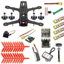 JMT 250 DIY FPV Quadcopter Camera Drone Kit 250MM Carbon Fiber Frame SP Racing F3 FC Flycolor Raptor BLS Pro-30A ESC 700TVL Camera HGLRC GTX226 V2 VTX 11.1V 1500MAH 40C Battery