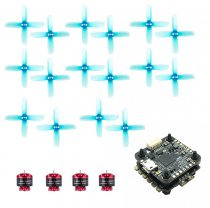 4pcs iFlight Tachyon T1408S 1408S 4300KV 2-6S / 5400KV 2-4S Brushless Motor with GEMFAN 2036 Propeller Props FSD435 F4 FC 35A 4IN1 ESC for FPV Racing Drone Quadcopter