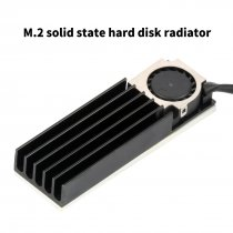 XT-XINTE  PCIE SSD M.2 2280 Heat Sink Radiator 3in1 for SM951 960 961 Rapid Cooling Cooler Fan & Heatsink Fin Thermal Pad 3Pin Power Cord