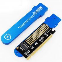 JEYI iSUB PCIE3.0 NVME Adapter x16 PCI-E Full Speed M.2 2280 Aluminum Sheet Thermal Conductivity Silicon Wafer Cooling