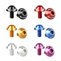 2PCS GUB G-510 Aluminum Alloy Bicycle Water Bottle Holder Screws 5*12mm Ultra-Light Metal Colorful Bike Handlebar Screw